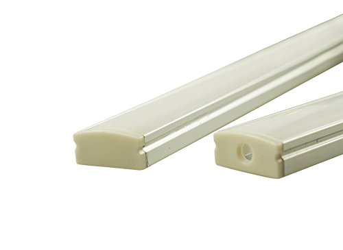 Muzata-6-Pack-33ft1Meter-9x17mm-U-Shape-LED-Aluminum-Channel-System-With-Cover-End-Caps-and-Mounting-Clips-Aluminum-Profile-for-LED-Strip-Light-Installations-Led-Lights-Diffuser-Segments