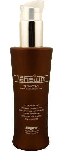 Supre Tansium Facial Bronzing System Tansium Tanning Lotion For Face With Bronzer 4 oz - Facial Bronzing System