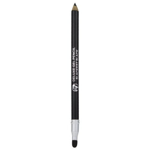 Delux Gel - W7 Delux Gel Eye Liner Pencil With Smudger - Blackest Black