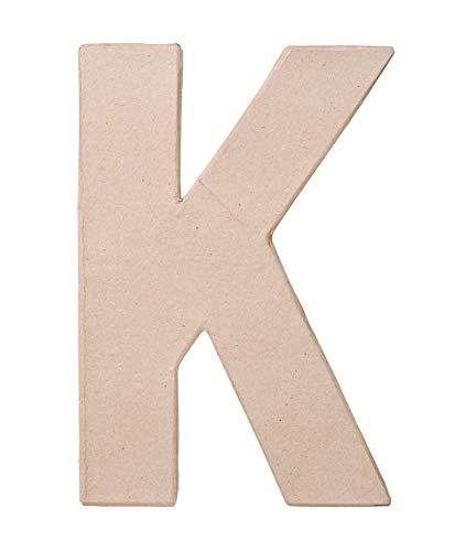 Darice Paper Mache Letter  K  8 x 55 x 1 inches