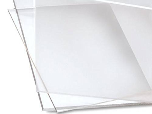 Cast Acrylic Sheet - 12 x 12 - Clear - 3mm Thick - Used in Art Installations, Models, Display & Signage, Windows, Aquariums, Trophies, Picture Frames, Furniture - Transparent & Easy to Fabricate
