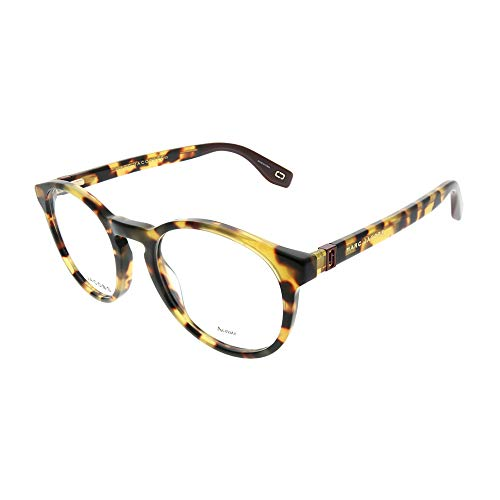 Marc Jacobs Marc 352 SCL Yellow Havana Plastic Round Eyeglasses 49mm