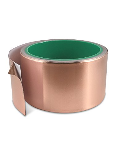 Extra Wide Copper Foil Tape (2 inch x 20ft) with Conductive Adhesive - Guitar, EMI Shielding, Slug, Snail Repellent, Crafts, Electrical Repair, Stained Glass – Mega Bond Extra Long Value