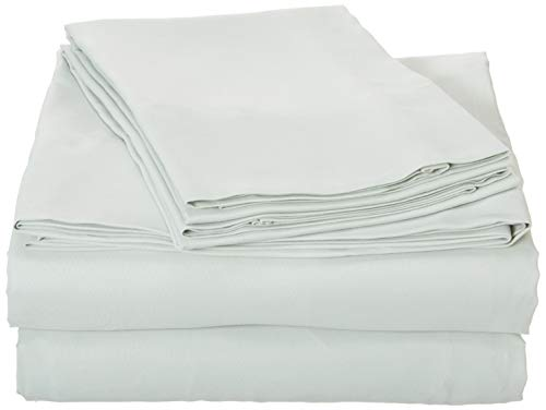 (First At Home Venezia Ultra Soft 100% Microfiber Solid Color Sheet Set, Queen, Sage)