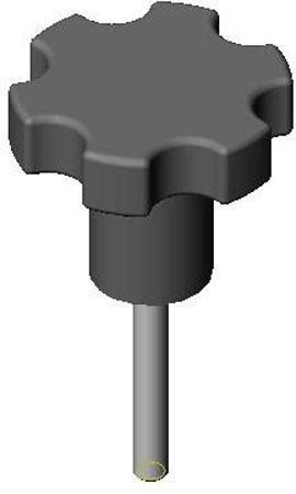 2'' Hexagon, 1/4-20 x 1 3/4'' Stud, Hexagon Type, Luster Finish, Extruded Aluminum Knob (1 Each)