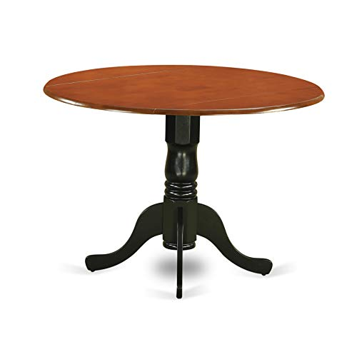 East West Furniture DLT-BCH-TP Round Table with Two 9-Inch Drop Leaves ()