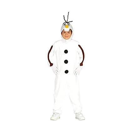 Rudy Disfraz Muñeco de Nieve Olaf, Niño 5 – 6 años, Color Blanco, 41625