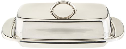 Norpro Stainless Steel Double Covered Butter Dish ()