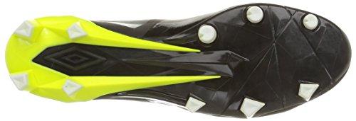 Umbro Velocita Pro Hg - Botas de fútbol Hombre Negro (noir/jaune fluo/blanc)
