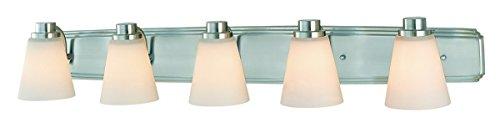 Dolan Designs 3405-09 5Lt Bath Satin Nickel Southport 5 Light Bathroom Fixture ()
