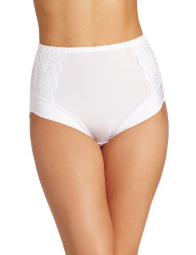 - Olga Women's Lux Lift Shaping Brief Panty, White, 10