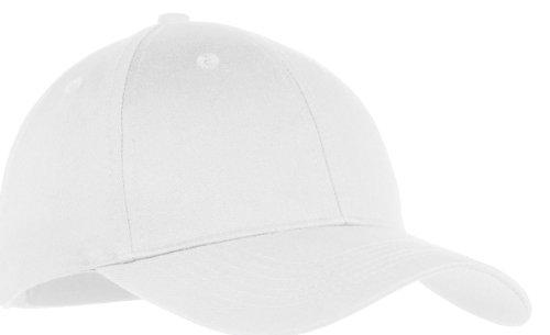 Port & Company Boys' Six Panel Twill Cap OSFA White ()