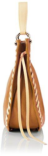 Chicca Borse 8701, Borsa a Spalla Donna, 35x28x12 cm (W x H x L) Marrone (Tan Yellow)