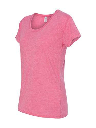 Alternative Apparel 2620 Women's Melange Burnout The Kimber T-Shirt Rose Heather Small
