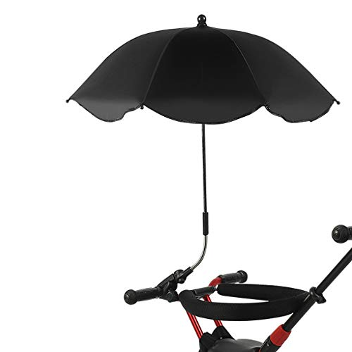 Eoeth Baby Carriages Umbrella, Wheelchair Pushchair Baby Stroller Umbrella and Holder Parasol UV Rays Rain Sun Canopy Sun Shadow Shade Baby Cart Umbrella (Top 10 Best Pushchairs)