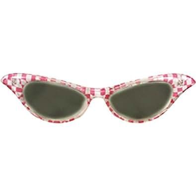 Amazon.com: 50s Rosa a cuadros ahumado tinte ojo de gato ...