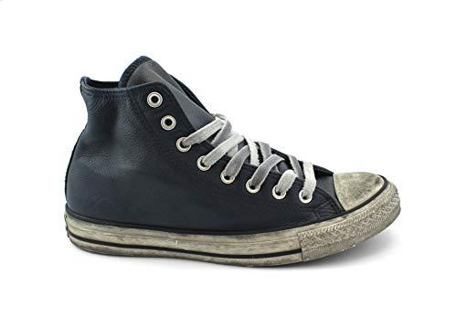 Edition Schuhe Blu Mann Marineblau Turnschuhe 162906C Limitierte Schnürsenkel Hohe Converse Leder qnAIEI