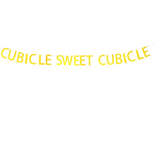 Cubicle Sweet Cubicle Banner Hanging Decor for House,Office Decorations Gold Banner Pertlife by Pertlife