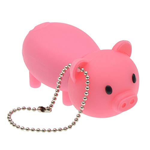 USB Flash Drive 16GB - USB 2.0 Memory Stick - Cartoon Rubber Piggy Pink Pig Thumb Drive Pendrive by FEBNISCTE (Flash Drive Pig)