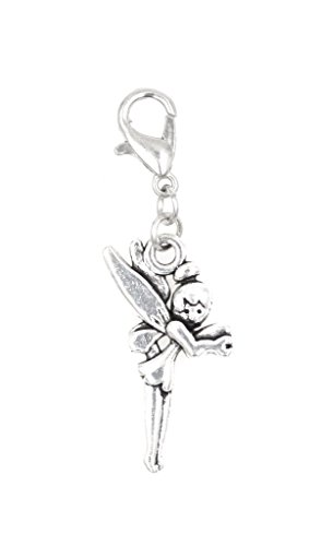 Pixie with Wings Clip On Charm Perfect for Necklaces and Bracelets (ZC 101Aa) (Tinkerbell Charm)