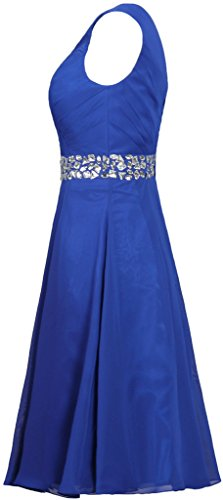 Evening Gown Tealblue Dresses ANTS Women's Bead Chiffon Straps Short Cocktail vw4qI84z