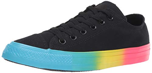 Converse Ox Rainbow Ice - Unisex Lace-up Sneakers,Black/Gnarly Blue/Racer Pink,5.5 M US