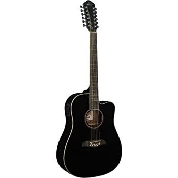 oscar schmidt by washburn 12 string acoustic electric guitar od312cettbl trans. Black Bedroom Furniture Sets. Home Design Ideas
