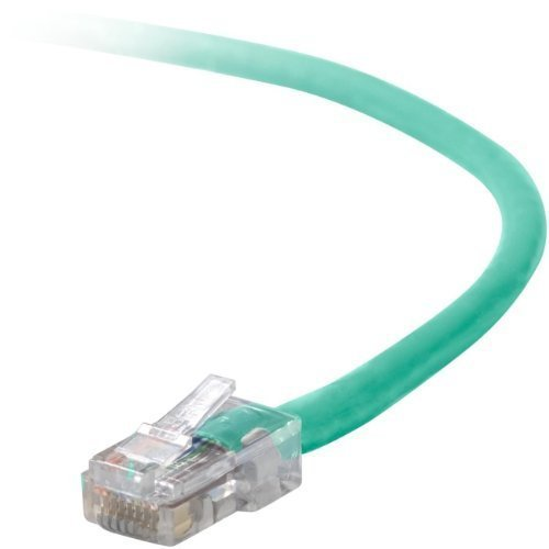 1FT CAT5E SNAGLESS PATCH CABLE, UTP, GREEN PVC JACKET, 24AWG, T568B, 50 MICRON, (A3L791-01-GRN-S) -