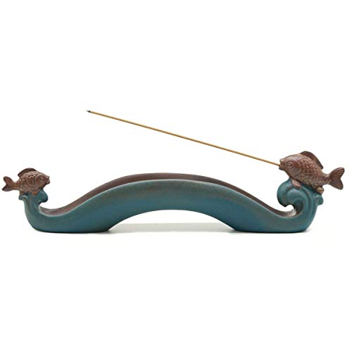 Yinsen Line Incense Holder Fish Incense Burner Pisces Aromatherapy Stove Ash Catcher ()