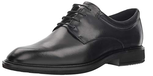 ECCO Men's Vitrus II Plain Toe Tie Oxford, Black, 43 M EU (9-9.5 ()