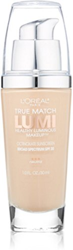L'Oreal True Match Lumi Healthy Luminous Makeup, Soft Ivory/Classic Ivory [N1-2], 1 oz (Pack of 2) Classic Ivory Loreal True Match