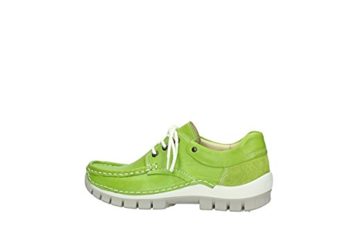 Leather Wolky 70750 Fly 4701 Lime up Lace shoes xFfHq