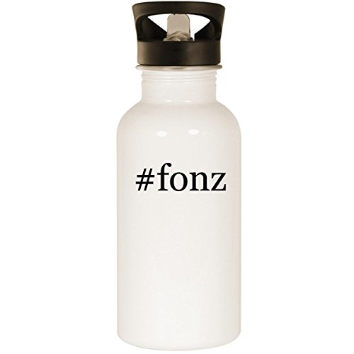 #fonz - Stainless Steel Hashtag 20oz Road Ready Water Bottle, White