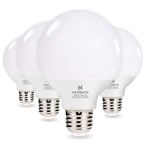 Hansang G25 LED Globe Light Bulbs,60W Equivalent 5000K Daylight White Eye-friendly Decorative -