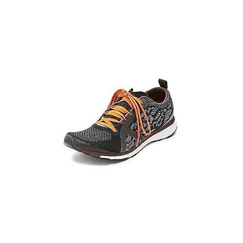 adidas by Stella McCartney Women's Adizero Adios Sneakers, Core Black/ Pomegranate/Maroon, 5.5 B(M) US
