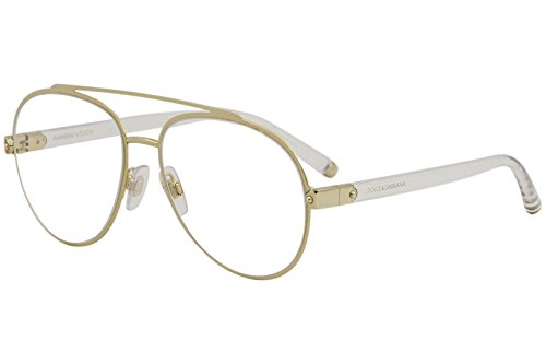 Dolce & Gabbana Eyeglasses D&G DG1303 DG/1303 488 Pale Gold Optical Frame ()
