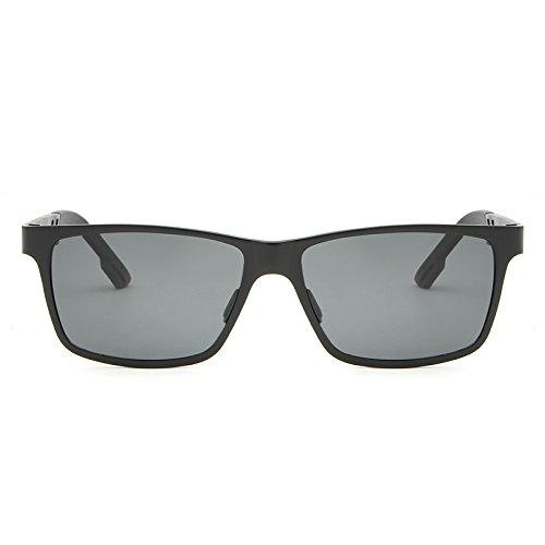 Gr Aluminiumlegierung Männer Aviator Goggle Eyewear Zubehör Frauen Sonnenbrille polarisierte Sonnenbrille Designer männlichen Platz (Color : Silver+white silver) aLZCqpj