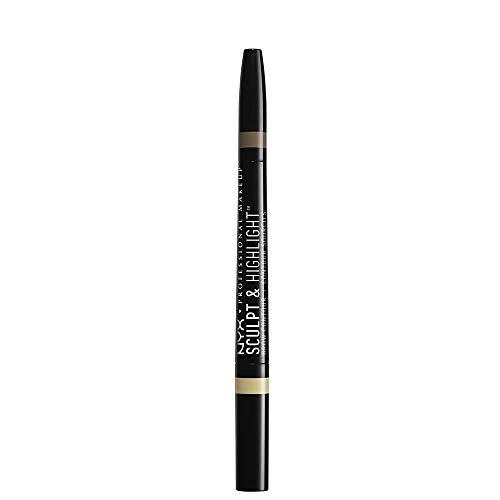 NYX Professional Makeup Sculpt & Highlight Brow Contour, Light Beige/Espresso
