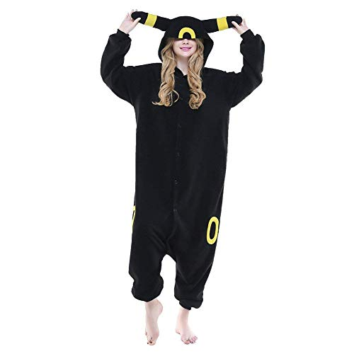 Women's Sleepwear Unisex Adult Pajamas Cosplay Cartoon Animal Costume Christmas Costume (Small,Umbreon)