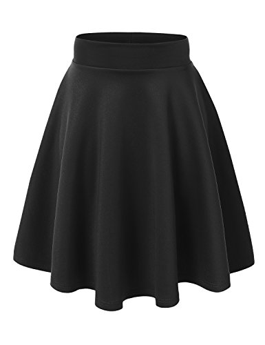 (MBJ WB829 Womens Flirty Flare Skirt XL Black)