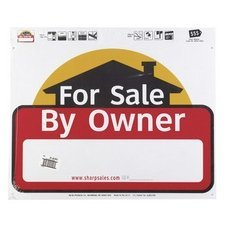 Hy-Ko SSP-301 Sign 20'' x 24'' For Sale By Owner Weather Resistant Corrugated Plastic