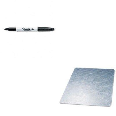 Mat Supermat Beveled Studded (KITDEFCM14443FSAN30001 - Value Kit - Deflect-o SuperMat Studded Beveled Mat for Medium Pile Carpet (DEFCM14443F) and Sharpie Permanent Marker (SAN30001))