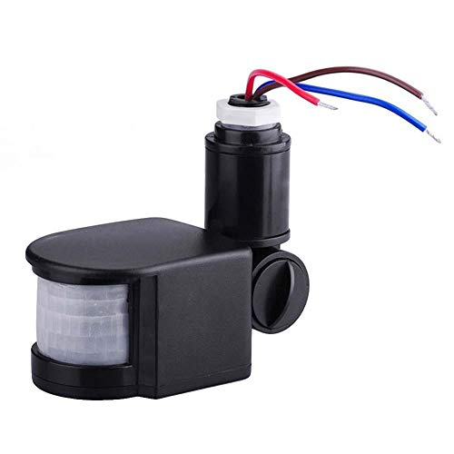 CHoppyWAVE 15M AC110V-220V PIR 10-100W Infrared Motion Sensor Universal Inductive Switch 180 Degree Security Infrared Human Body Motion Sensor Black
