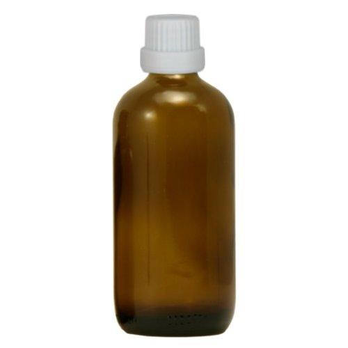 10 x botellas de la farmacia 100 ml cristal marrón con blanca los sistemas de goteo fabricado mediante el sistema de cierre (tamaño 0.8 mm): Amazon.es: ...