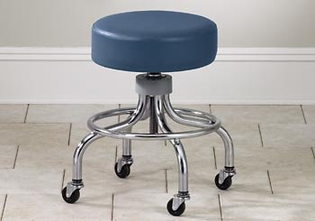 CLINTON VALUE SERIES STOOLS-CLASSIC CHROME Same as 2102 w/ multi color top Item# 2102-M