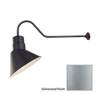 """Millennium Lighting RAS10-ABR-RGN41-ABR Angle Shade 10"""" with Goose Neck 41"""" in Architectural Bronze"""