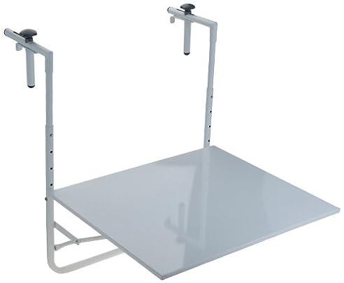 Balkontisch klappbar metall  Metall Balkontisch klappbar 60x53cm - Weiß: Amazon.de: Küche ...
