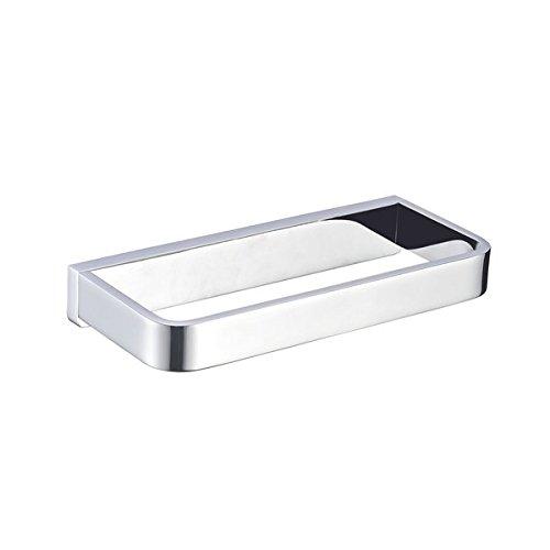 EQLOO L6804 8-Inches Single Brass Towel Bar Brushed Chrome