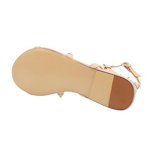 MERUMOTE - Sandalias de vestir de Material Sintético para mujer Natural