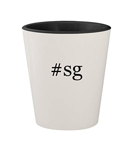 Price comparison product image #sg - Ceramic Hashtag White Outer & Black Inner 1.5oz Shot Glass